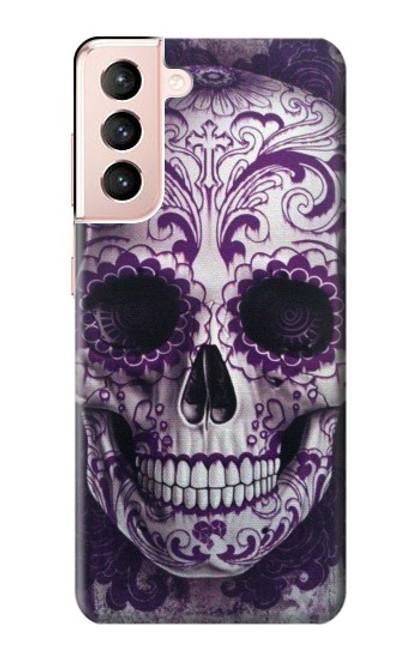 S3582 Purple Sugar Skull Case For Samsung Galaxy S21 5G