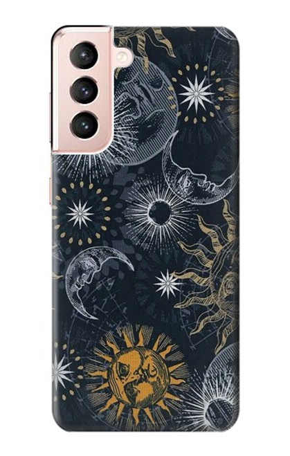 S3702 Moon and Sun Case For Samsung Galaxy S21 5G