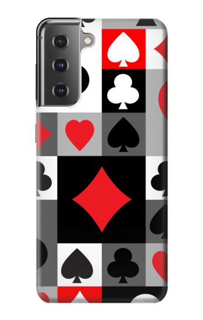 S3463 Poker Card Suit Case For Samsung Galaxy S21 Plus 5G, Galaxy S21+ 5G