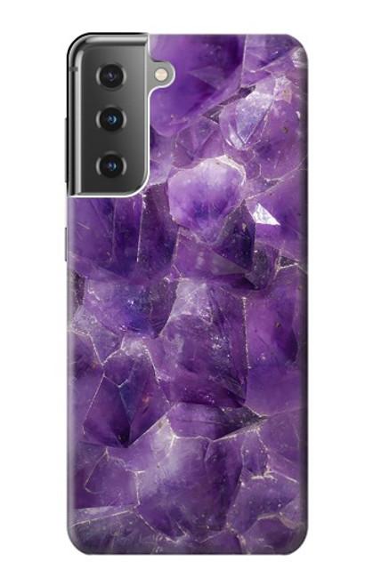 S3713 Purple Quartz Amethyst Graphic Printed Case For Samsung Galaxy S21 Plus 5G, Galaxy S21+ 5G