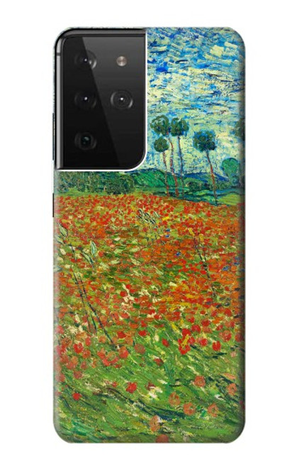 S2681 Field Of Poppies Vincent Van Gogh Case For Samsung Galaxy S21 Ultra 5G