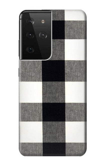 S2842 Black and White Buffalo Check Pattern Case For Samsung Galaxy S21 Ultra 5G