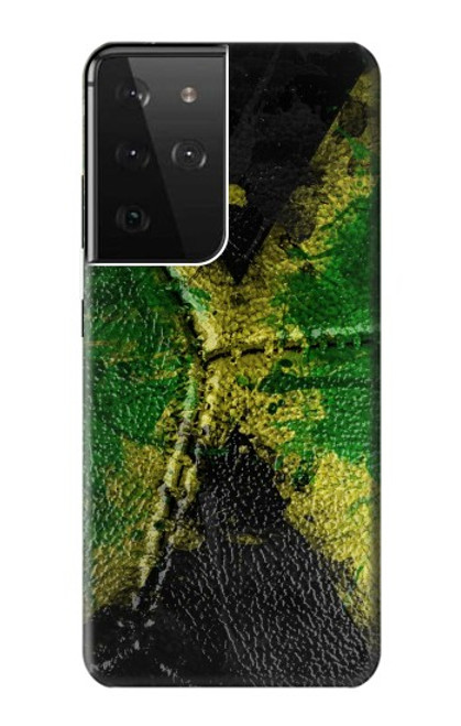 S3319 Jamaica Flag Vintage Football Graphic Case For Samsung Galaxy S21 Ultra 5G
