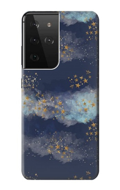 S3364 Gold Star Sky Case For Samsung Galaxy S21 Ultra 5G