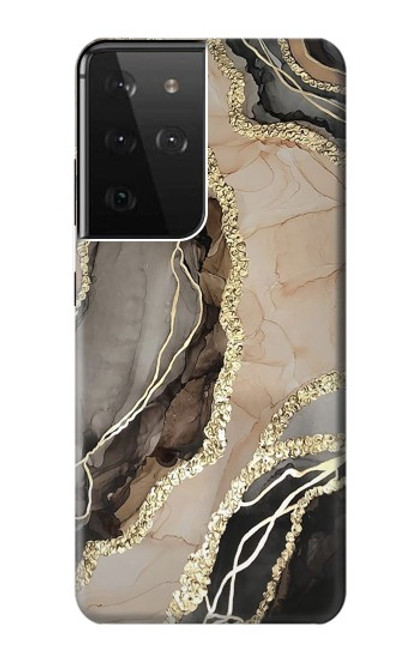 S3700 Marble Gold Graphic Printed Case For Samsung Galaxy S21 Ultra 5G