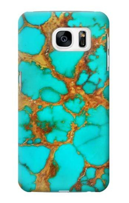 S2688 Aqua Copper Turquoise Graphic Case For Samsung Galaxy S7