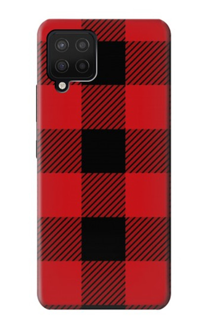 S2931 Red Buffalo Check Pattern Case For Samsung Galaxy A12