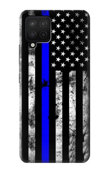 S3244 Thin Blue Line USA Case For Samsung Galaxy A12