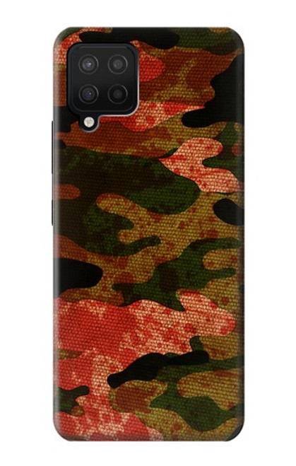 S3393 Camouflage Blood Splatter Case For Samsung Galaxy A12