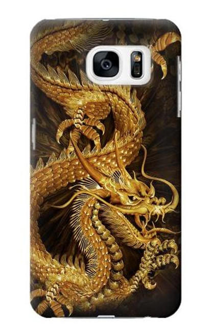 S2804 Chinese Gold Dragon Printed Case For Samsung Galaxy S7