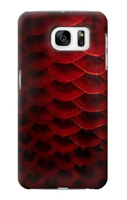 S2879 Red Arowana Fish Scale Case For Samsung Galaxy S7