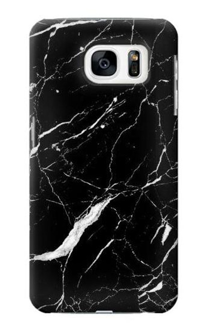 S2895 Black Marble Graphic Printed Case For Samsung Galaxy S7