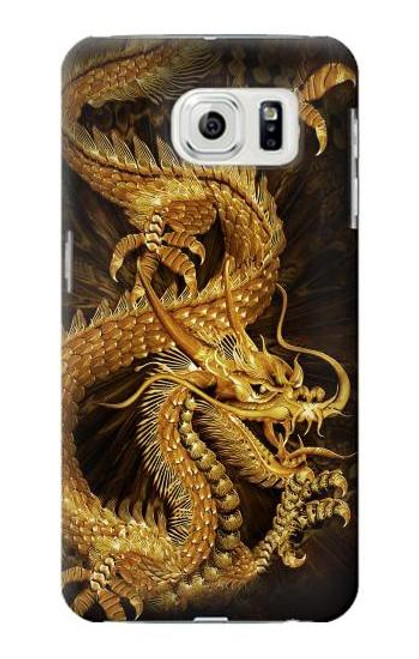 S2804 Chinese Gold Dragon Printed Case For Samsung Galaxy S7 Edge