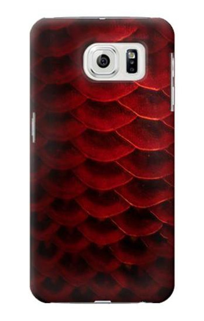 S2879 Red Arowana Fish Scale Case For Samsung Galaxy S7 Edge