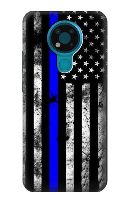 S3244 Thin Blue Line USA Case For Nokia 3.4