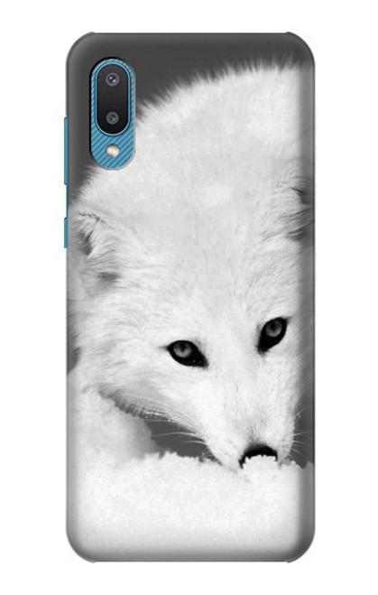 S2569 White Arctic Fox Case For Samsung Galaxy A02, Galaxy M02