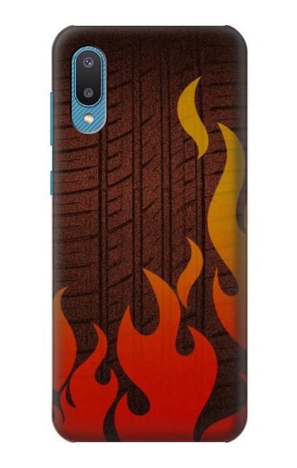 S2988 Rally Car Tire Fire Case For Samsung Galaxy A02, Galaxy M02