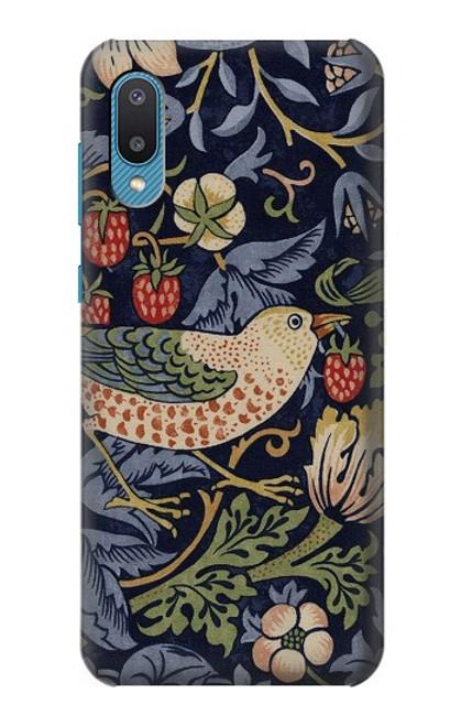 S3791 William Morris Strawberry Thief Fabric Case For Samsung Galaxy A02, Galaxy M02