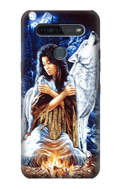 S0147 Grim Wolf Indian Girl Case For LG K51S
