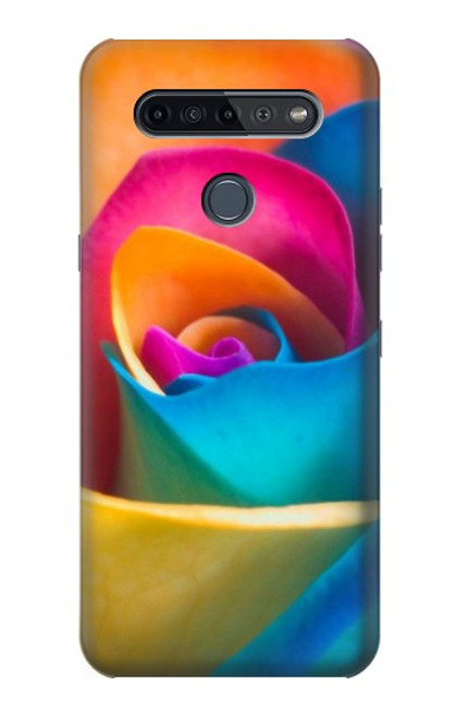 S1671 Rainbow Colorful Rose Case For LG K51S