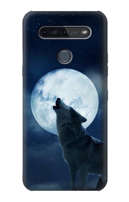 S3693 Grim White Wolf Full Moon Case For LG K51S