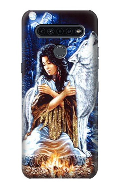 S0147 Grim Wolf Indian Girl Case For LG K41S