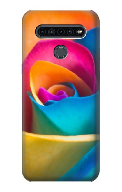 S1671 Rainbow Colorful Rose Case For LG K41S