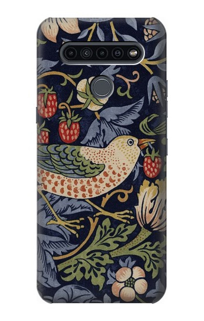 S3791 William Morris Strawberry Thief Fabric Case For LG K41S