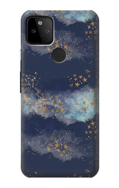 S3364 Gold Star Sky Case For Google Pixel 5A 5G