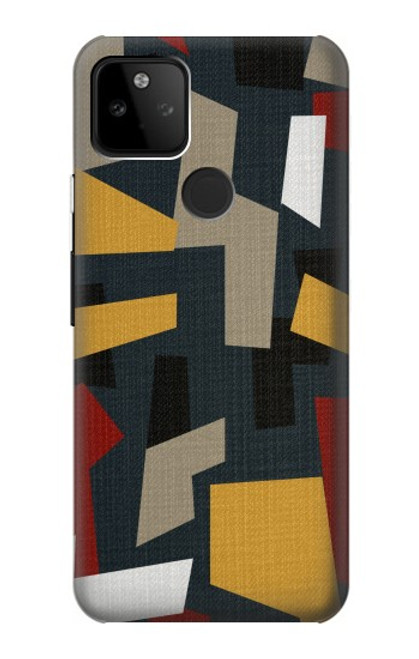 S3386 Abstract Fabric Texture Case For Google Pixel 5A 5G