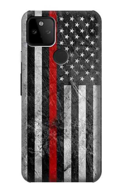 S3687 Firefighter Thin Red Line American Flag Case For Google Pixel 5A 5G