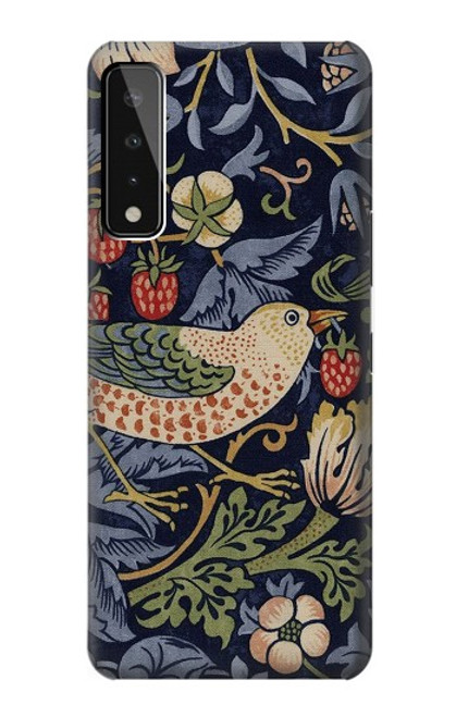 S3791 William Morris Strawberry Thief Fabric Case For LG Stylo 7 4G