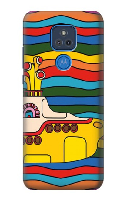 S3599 Hippie Yellow Submarine Case For Motorola Moto G Play (2021)