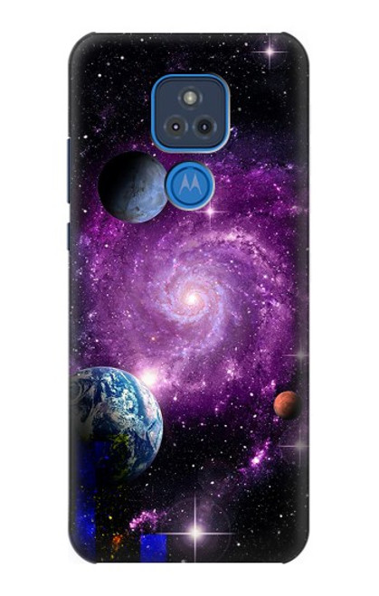 S3689 Galaxy Outer Space Planet Case For Motorola Moto G Play (2021)