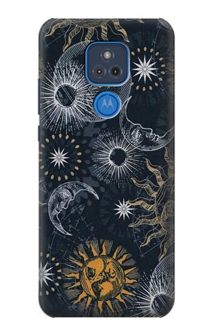S3702 Moon and Sun Case For Motorola Moto G Play (2021)