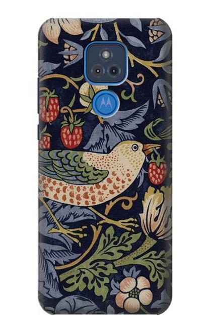S3791 William Morris Strawberry Thief Fabric Case For Motorola Moto G Play (2021)