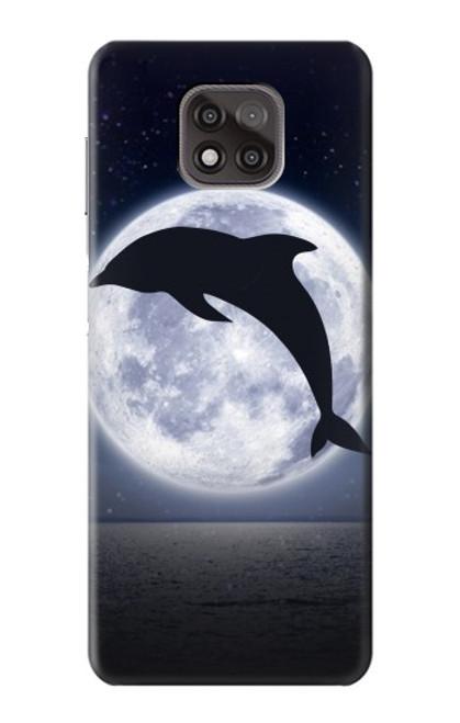 S3510 Dolphin Moon Night Case For Motorola Moto G Power (2021)