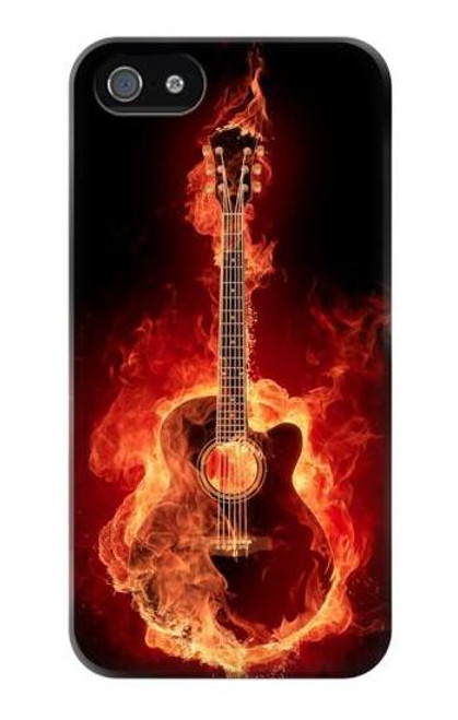 S0415 Fire Guitar Burn Case Cover For IPHONE 4/4S