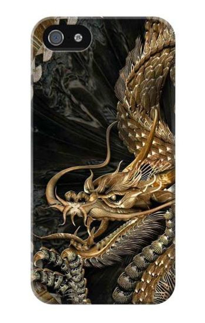 S0426 Gold Dragon Case Cover For IPHONE 4/4S