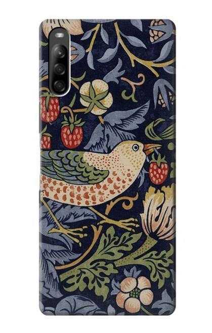 S3791 William Morris Strawberry Thief Fabric Case For Sony Xperia L5