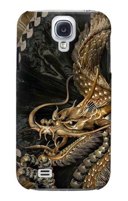S0426 Gold Dragon Case For Samsung Galaxy S4