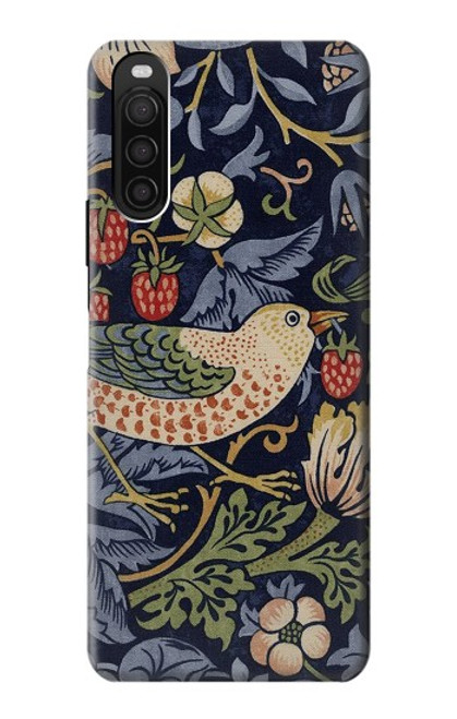 S3791 William Morris Strawberry Thief Fabric Case For Sony Xperia 10 III