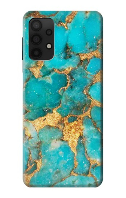 S2906 Aqua Turquoise Stone Case For Samsung Galaxy A32 4G