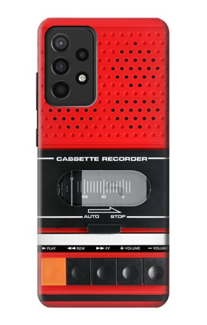 S3204 Red Cassette Recorder Graphic Case For Samsung Galaxy A52, Galaxy A52 5G