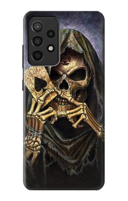 S3594 Grim Reaper Wins Poker Case For Samsung Galaxy A52, Galaxy A52 5G