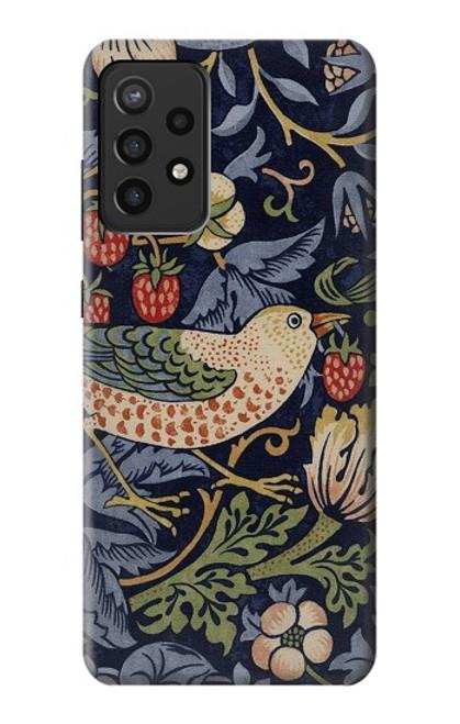 S3791 William Morris Strawberry Thief Fabric Case For Samsung Galaxy A72, Galaxy A72 5G