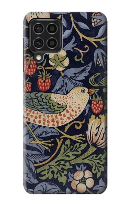 S3791 William Morris Strawberry Thief Fabric Case For Samsung Galaxy F62