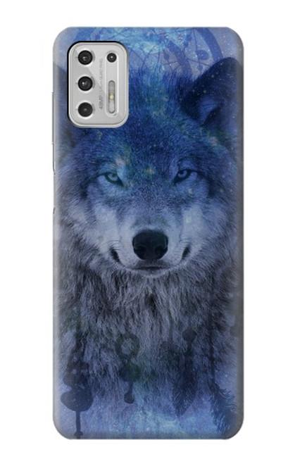 S3410 Wolf Dream Catcher Case For Motorola Moto G Stylus (2021)