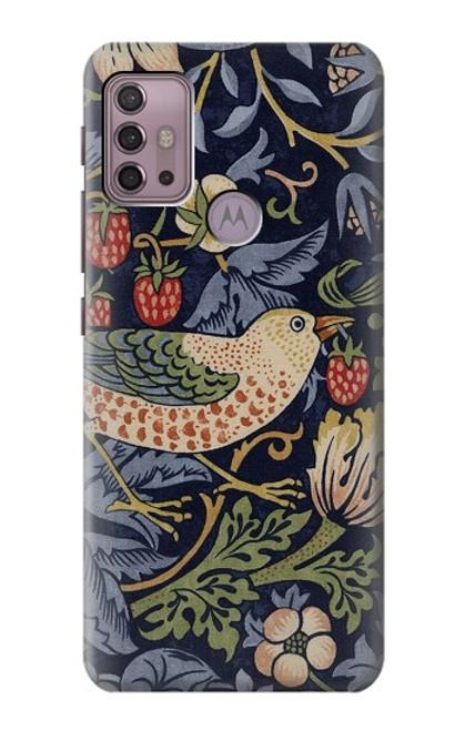 S3791 William Morris Strawberry Thief Fabric Case For Motorola Moto G30, G20, G10