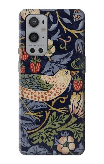 S3791 William Morris Strawberry Thief Fabric Case For OnePlus 9 Pro